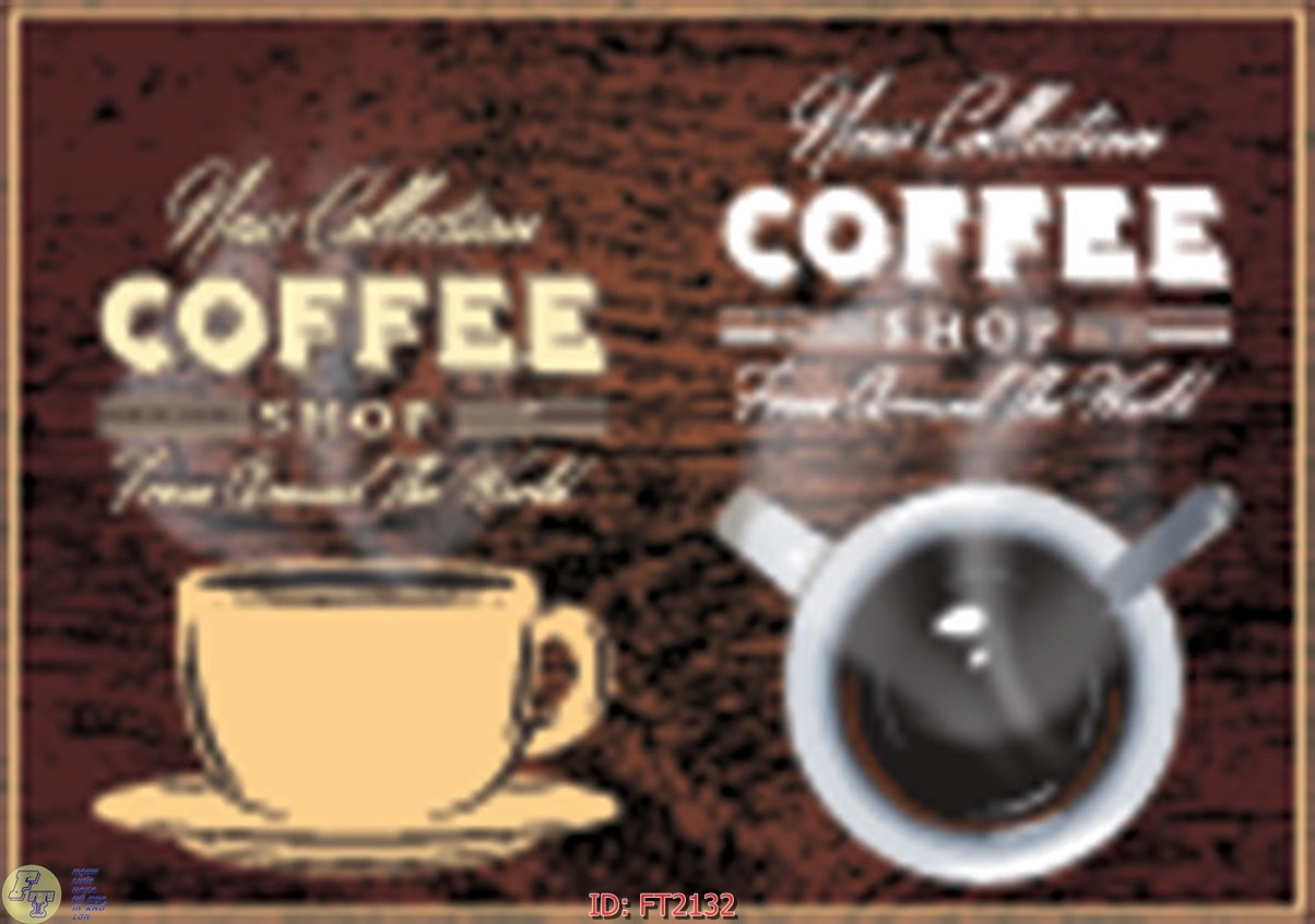 File psd tường quán cà phê FT2132